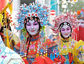 春節祭のパレードの写真